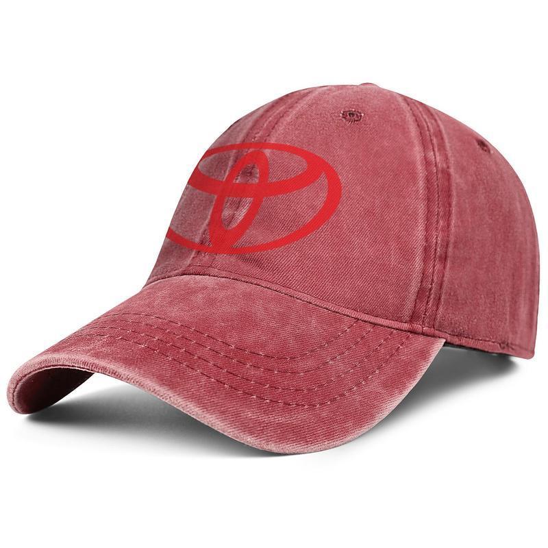Тойота красный символ логотип эмблема мужская мода бейсбольная кепка мяч шляпа регулируемый дизайнер старинные классические джинсовые японского автомобиля логотип