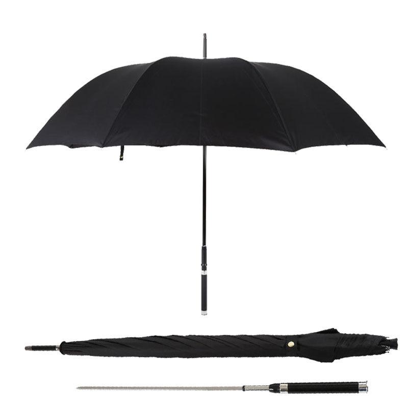 الدفاع عن النفس السيف المحارب المظلة طويل التعامل مع الرجل الآلي صامد للريح الأعمال الإبداعية مشمس وممطر مظلة هدية T200117