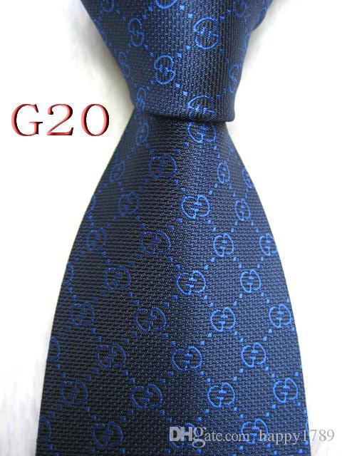 G20 # 100% Jacquard De Seda Artesanal Gravata Gravata Dos Homens