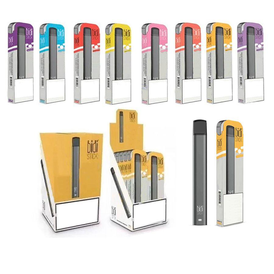 10 cores BIDI VARA descartável Dispositivo Pod Starter Kit 280mAh Battery 1,4 ml cartucho vazio Vape Pen POP XTRA Ezzy OVAL