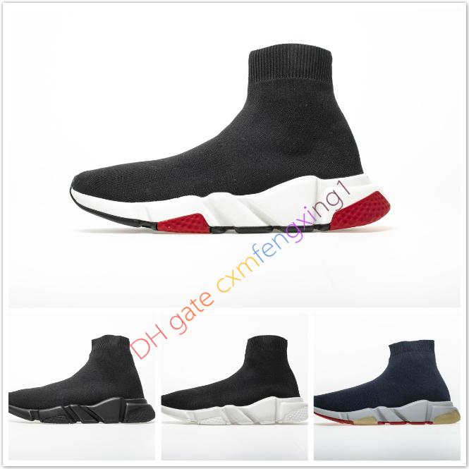 Designer Sneakers Speed ​​Trainer Nero Rosso Gissola Triple Nero piana di modo Calzino Stivali Casual Shoes Speed ​​Trainer Runner35-46