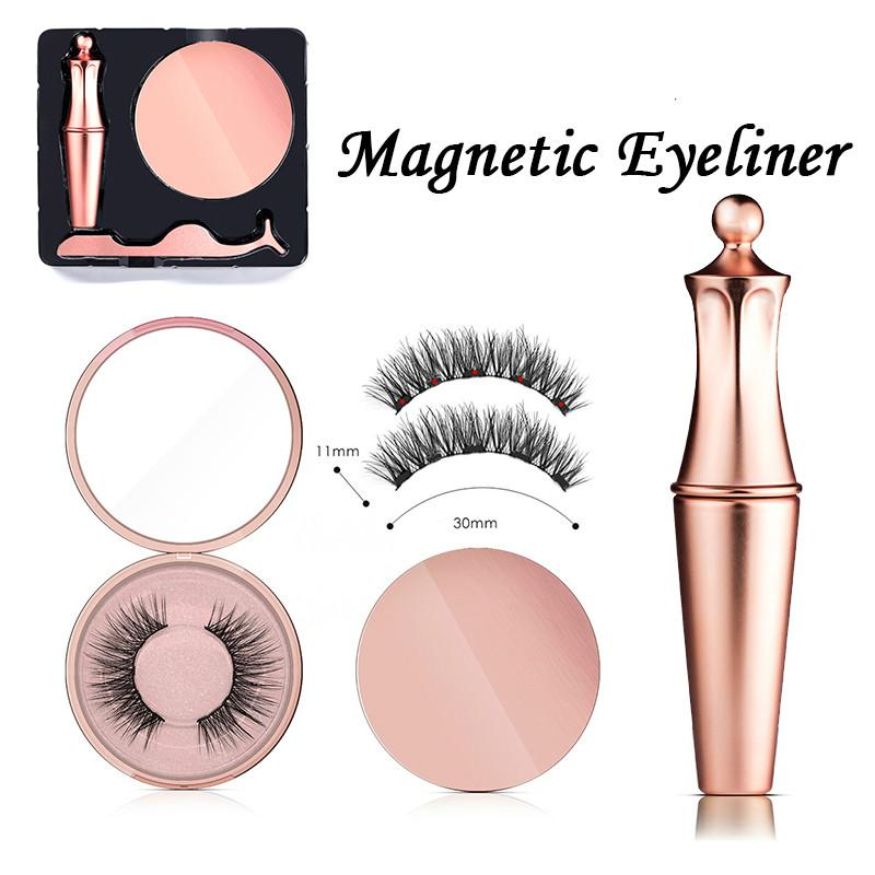 New Magnetic Eyelash & Magnetic Eyeliner Kit Wedding Ceremony Waterproof Long Lasting Eyeliner False Eyelashes Magnetic Eyeliner Kit