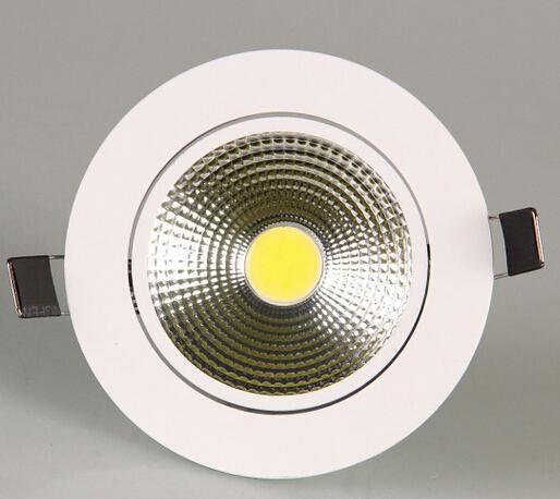 (16pcs / Lot) Cob 9W ajustável Regulável Led recesso Downlight Led Cabinet Lighting Quente Branco Frio Ac 85 -265v