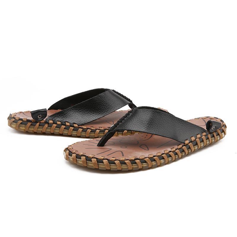 Homens Verão Couro Leve falhanços Open-toe Deslizamento-na Praia Loafers natação Chinelos interior Shoes