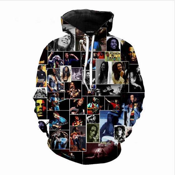 Mens Designer Hoodies für Frauen Männer Paare Sweatshirt Lovers 3d Bob Marley Hoodies Coats Hoodies Tees Kleidung R221
