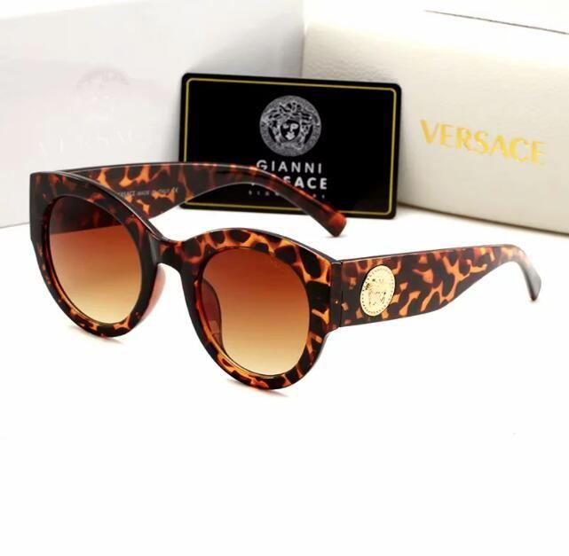 Lentes de alta calidad 1pcs gafas de sol clásicas piloto diseñador de la marca para mujer para hombre Gafas de sol Gafas del metal del oro GrGlass Brown Cas 5576