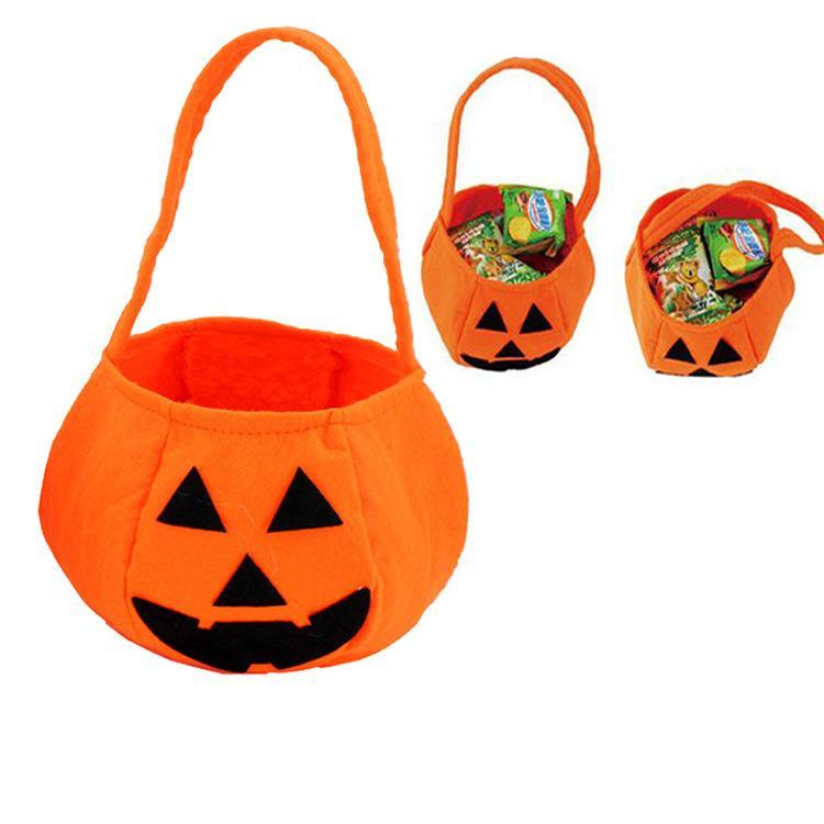 Halloween Pumpkin Bag Children s Hand-held Projects Non-woven Candy Bag Three-dimensional Gift Bag Festival Party Decoration JXW289