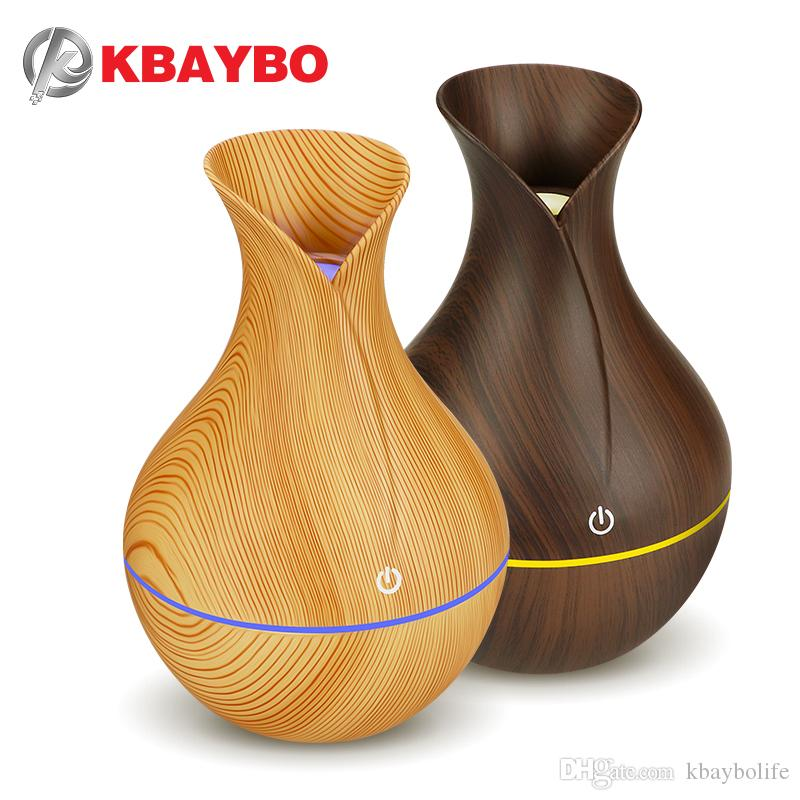 KBAYBO arôme électrique humidificateur diffuseur d'huile air bois humidificateur à ultrasons fabricant mini refroidir brouillard USB LED pour bureau à domicile