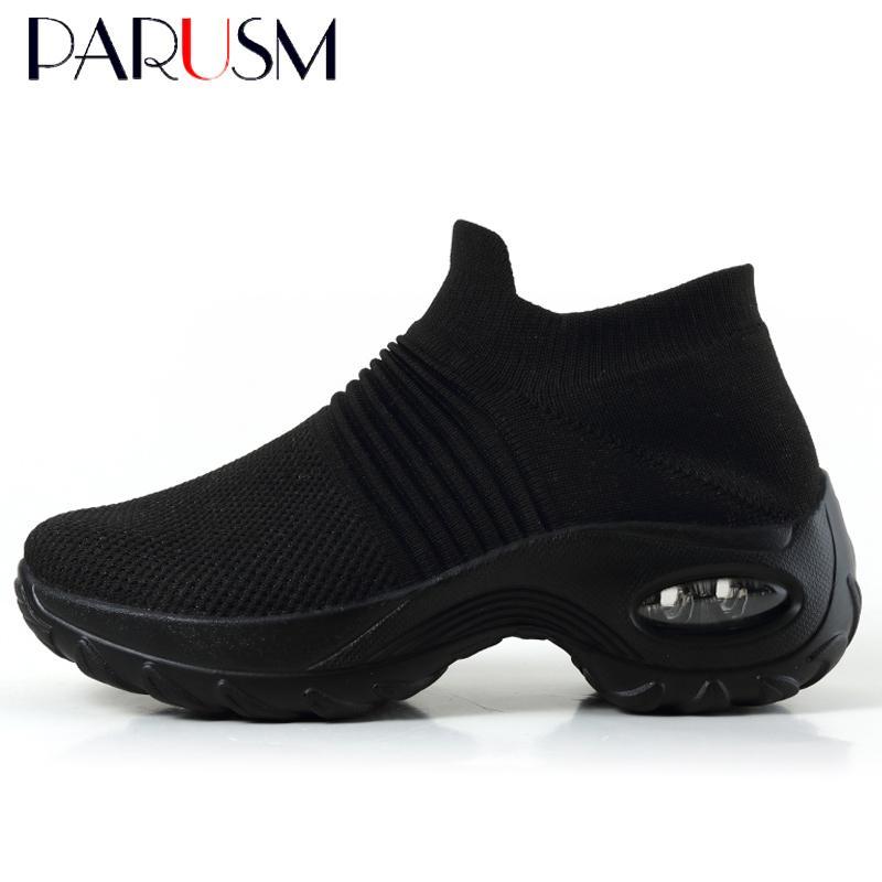 Весна женщины кроссовки обувь осени Flat Слипа на платформу Tenis для женщин дышащей сетки носок кроссовок обувь Zapatos De Mujer