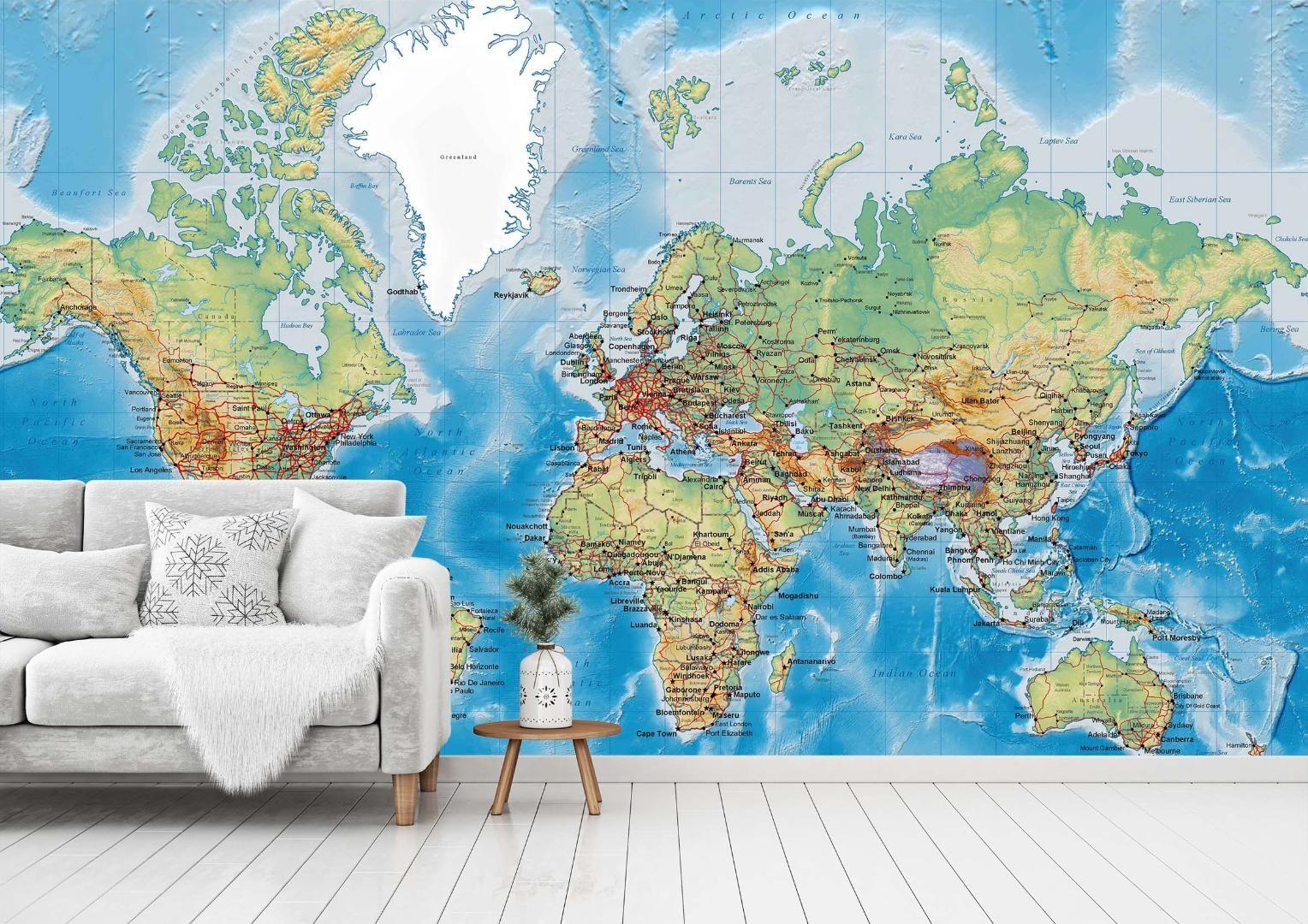[Autocollant] Papier peint mural, carte 0036, papier peint mural, décalcomanies