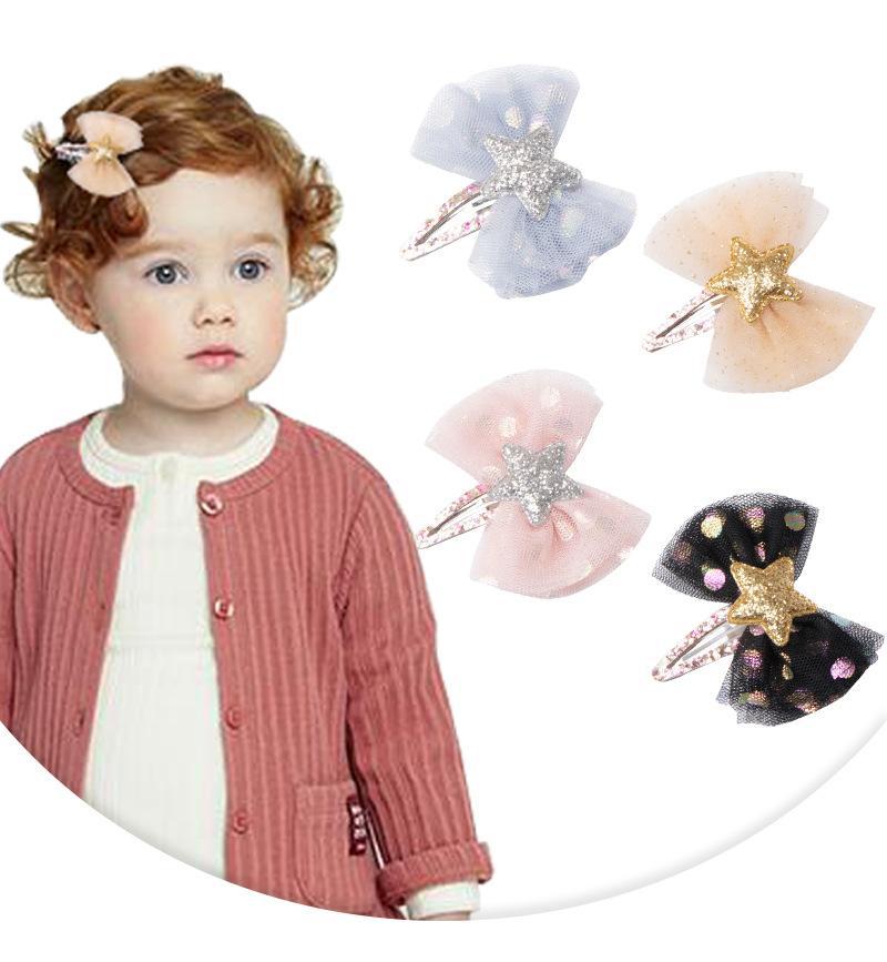 Clipes Blink Estrela Gazue bowknot Cabelo Crianças Jóia da forma coreano Crianças Boutique acessórios para o cabelo das meninas Barrettes