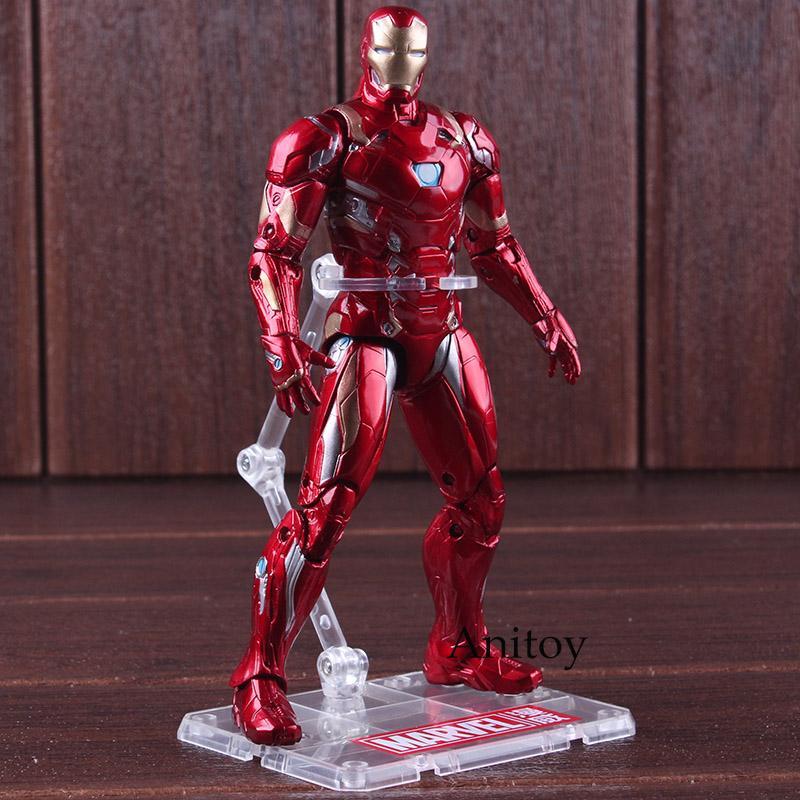 Capitán América Guerra Civil Iron Man figura de acción de PVC Marvel Avengers Juguetes de Colección Figura modelo de juguete 17.5cm