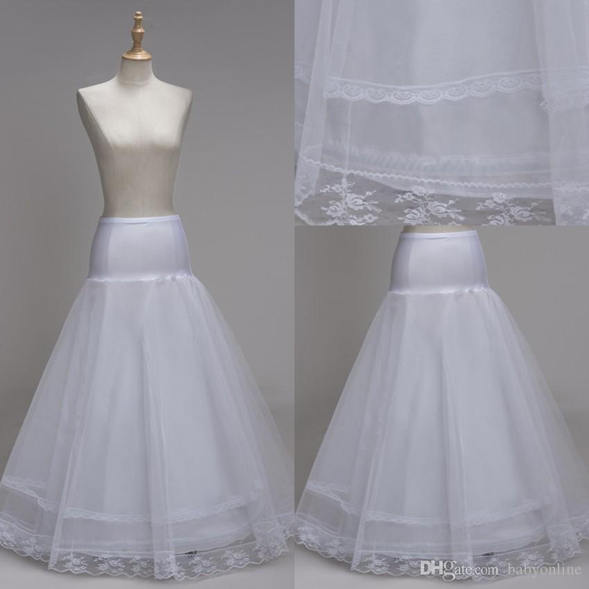 100% High Quality A Line 1 hoop Tulle Wedding Bridal Petticoat Underskirt Crinolines for Wedding Dress Free Size Crinoline CPA1337