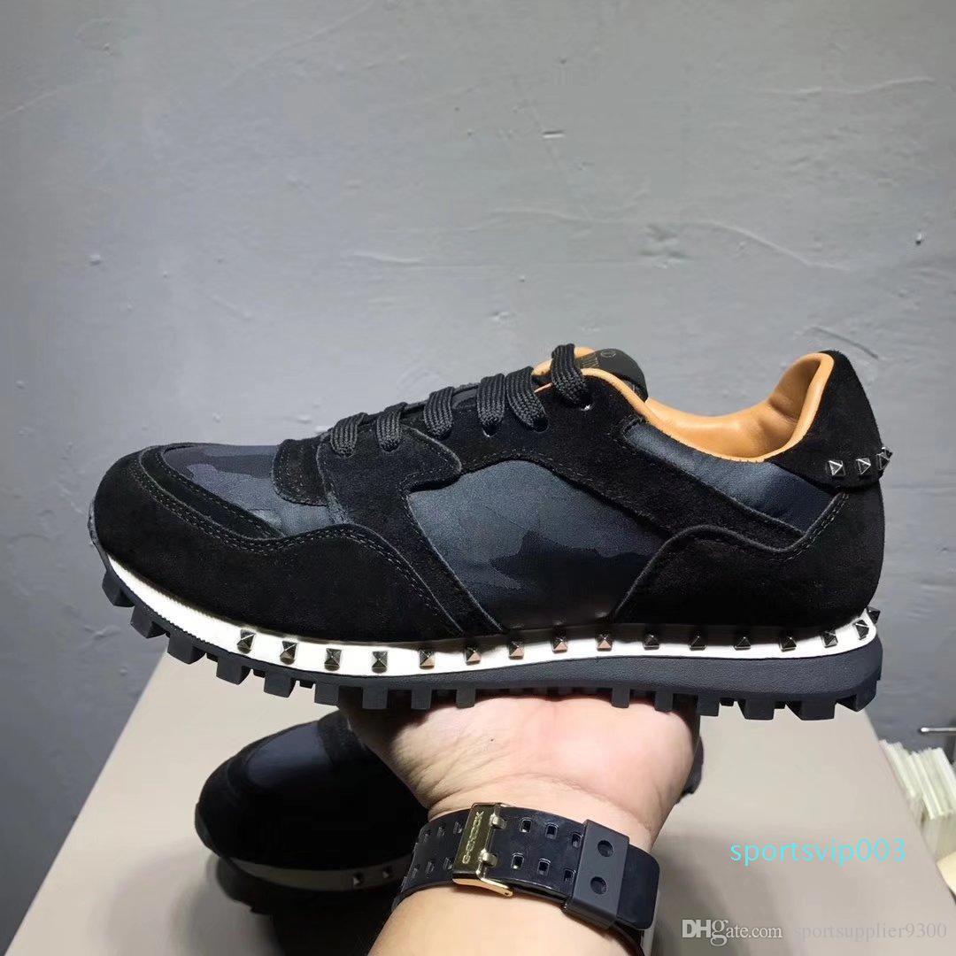 Ayakkabı DHL ücretsiz gönderim Yukarı Yeni Lüks Popüler valention'ın Günlük Ayakkabılar Kadın Erkek Tasarımcı Sneakers Ayakkabı Moda Yakın Otantik Ayakkabı