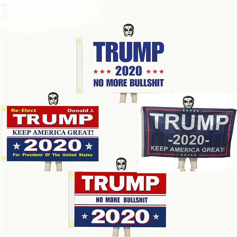 DHL 12 Stiller Trump 2020 Bayrak Donald Trump Bayrağı Başkanı Kampanyası Banner 90 * 150cm Flags için Amerika Büyük Donald tutun N104Z
