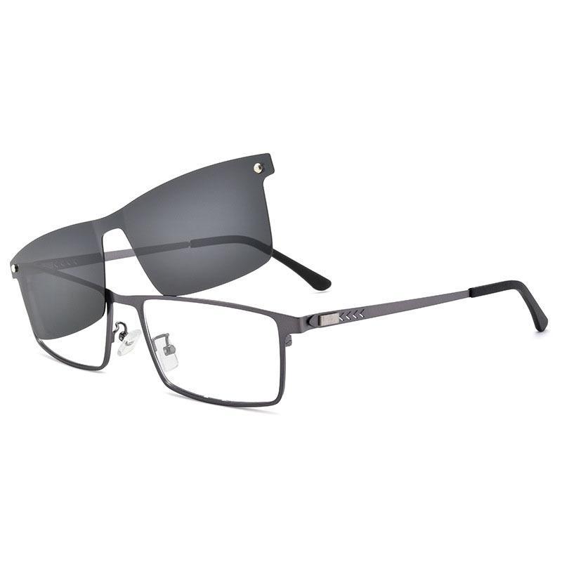 Fashion Magnetic Sunglasses Clip On Myopia Eye Glass Prescription Eyeglasses Frames Screwless Optical Eyeglasses Frames Men Hot T200428