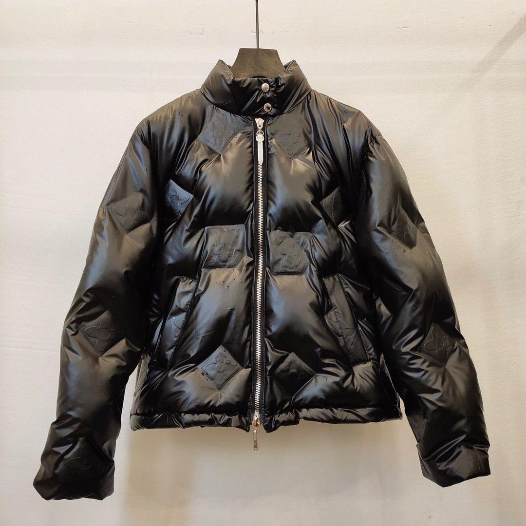 2020 neue Frauen-Jacke Art und Weise klassische Männer Reißverschluss-Mantel Winter-Daunenjacke Herren Parka Thick Windjacke EUR Größe S-L B102456K