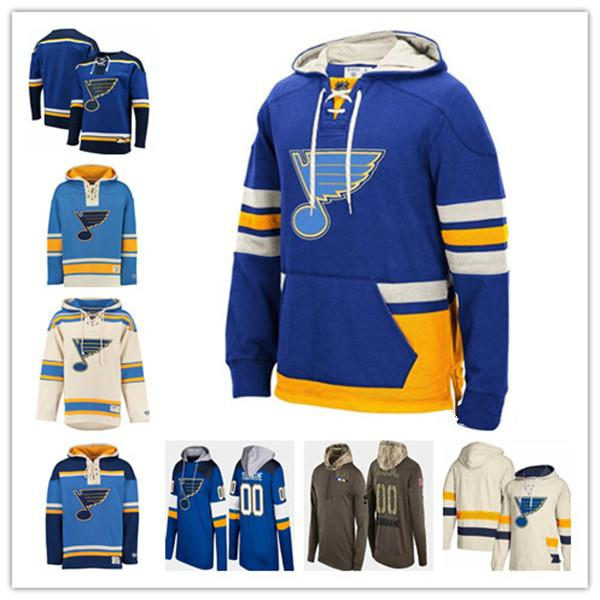 Custom 2020 St. Louis Blues Hoody Hockey Alex Pietrangelo Vladimir Tarasenko Schenn O'Reilly Allen Parayko Schwartz Men's Sweatshirt Cheap