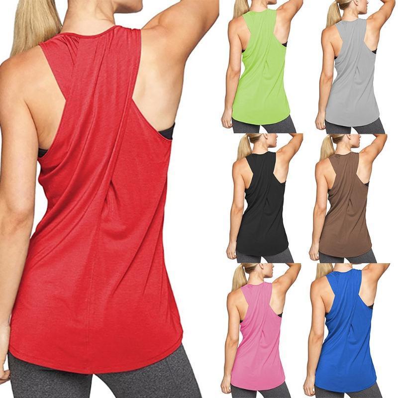 Lo nuevo para mujer tops y blusas de gimnasia del entrenamiento del chaleco blusas Operando basculador del deporte del chaleco tapas de las mujeres 2020 Verano Debardeur Femme