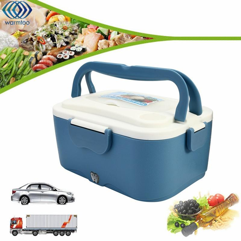 Lunch Box Portable 1.5l Lunchbox 12v Car 24v Truck Electric Food Warmer Hot Rice Cooker Traveling Meal Heater C19041901