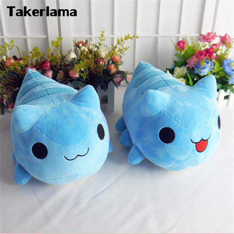 Takerlama Bugcat Capoo Cosplay Blue Cute Cat Toy Stuffed & Plush Cartoon Doll Gift Prop Y19070103