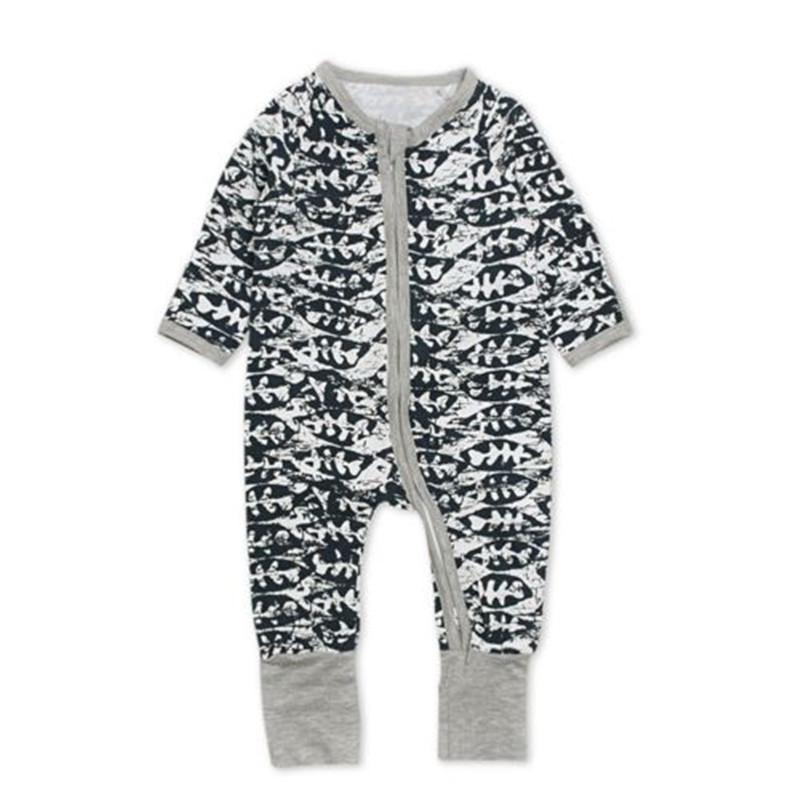 Toddler Baby Boy Girl Coverall Sharks Kid Pajamas
