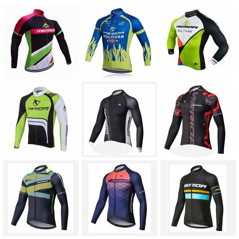 메리다 팀 사이클링 긴 소매 저지 MTB 의류 자전거 의류 의류 키트 자전거 타이츠 Roupa 로파 드 Ciclismo 험 브레 S121214