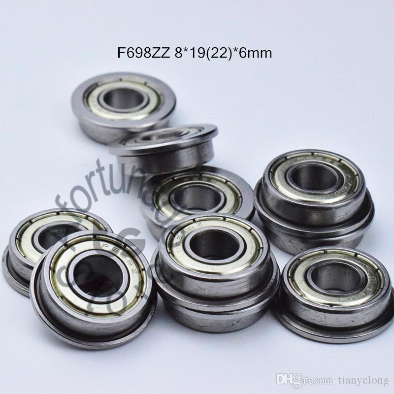 F698ZZ 플랜지 베어링 698 F698Z의 F698ZZ 8 * 1922 * 6mm 크롬 강철 깊은 홈 베어링