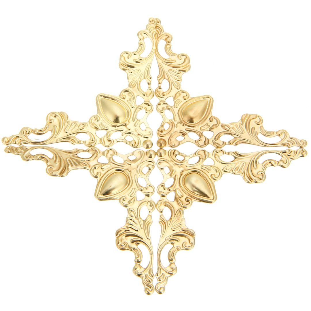 12pcs Metal Book Scrapbook Album Corner 41x41mm Silver Gold Bronze For Jewelry Gift Box Decorative Protector Cover