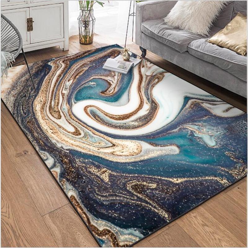 AOVOLL moderner abstrakter großer weicher Teppichboden Schlafzimmer und Teppiche für Home Wohnzimmer Küche Matte für Boden Vorleger Home Decor