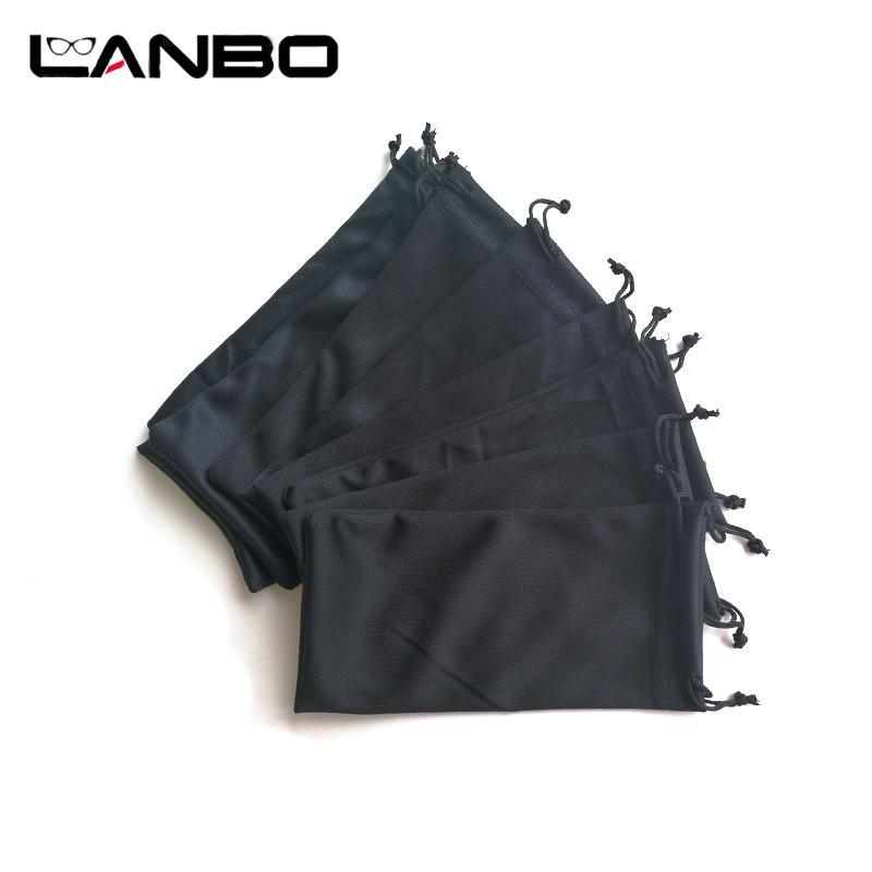Lanbo 50 Pcs Noir Microfibre Lunettes De Soleil Lunettes Poche Acrylique Fibres En Gros Doux Sac En Tissu Doux Étui Lunettes Accessoires T7190615