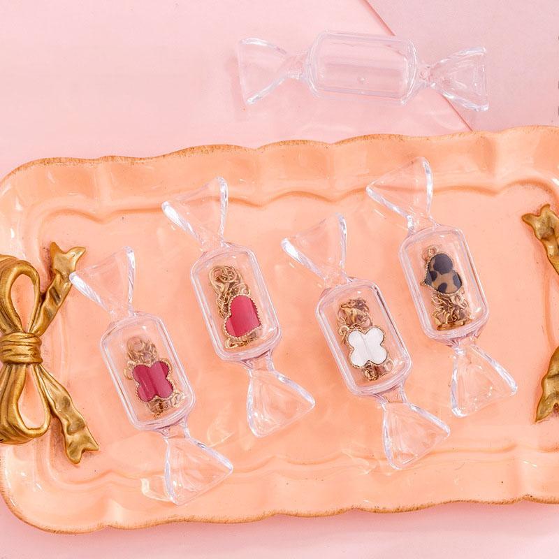 Bonbons Forme Boîte de rangement sucre bijoux bague Craft cas de stockage Creative bonbons Transparent boîte d'emballage Stockage Organisation XD22987