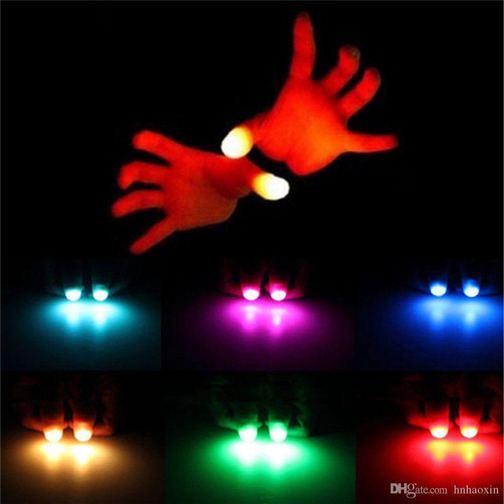 HaoXin ضوء المتابعة يعجبني LED ضوء وامض أصابع خدعة سحرية الدعائم الاطفال مذهلة الوهج لعب الأطفال مضيئة هدايا
