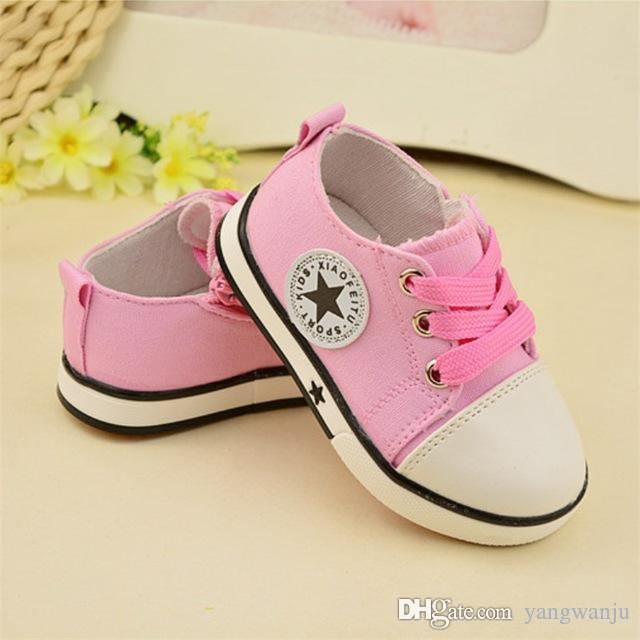 Baby Sneakers Shoes For Girls Boys Breathable Canvas Comfortable Kids Toddler