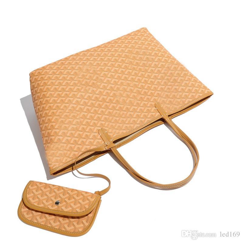 francés bolsa de compras de las mujeres de la moda bolso de cuero suave de lujo grande de la bolsa de asas del bolso del tamaño de GM MM conjunto GY