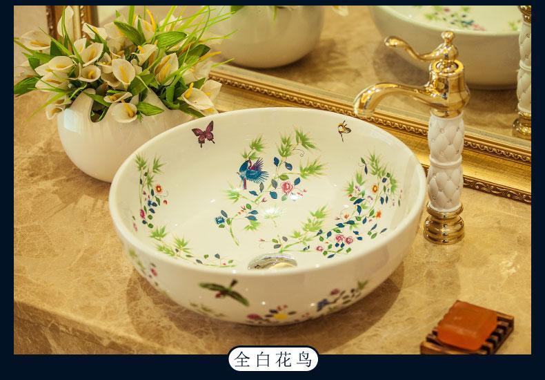 Porselen Çin Klasik Resimler havza yıkama Tezgah Seramik Banyo Lavabo banyo lavaboları el lavabo