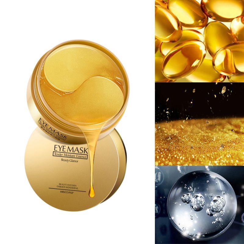 6 قطع جديد هايز 30 pair الذهب الكولاجين العين قناع إزالة الهالات السوداء تبييض ثبات قناع النوم ترطيب بقع العين العناية بالبشرة