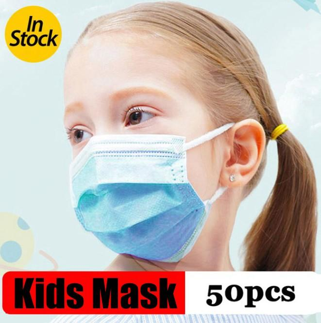قناع الاطفال المتاح وجه قناع لأقنعة الغبار سلامة الأطفال أقنعة الطفل قناع صبي 3 طبقات أقنعة حلقة الأذن لمكافحة الغبار الفم