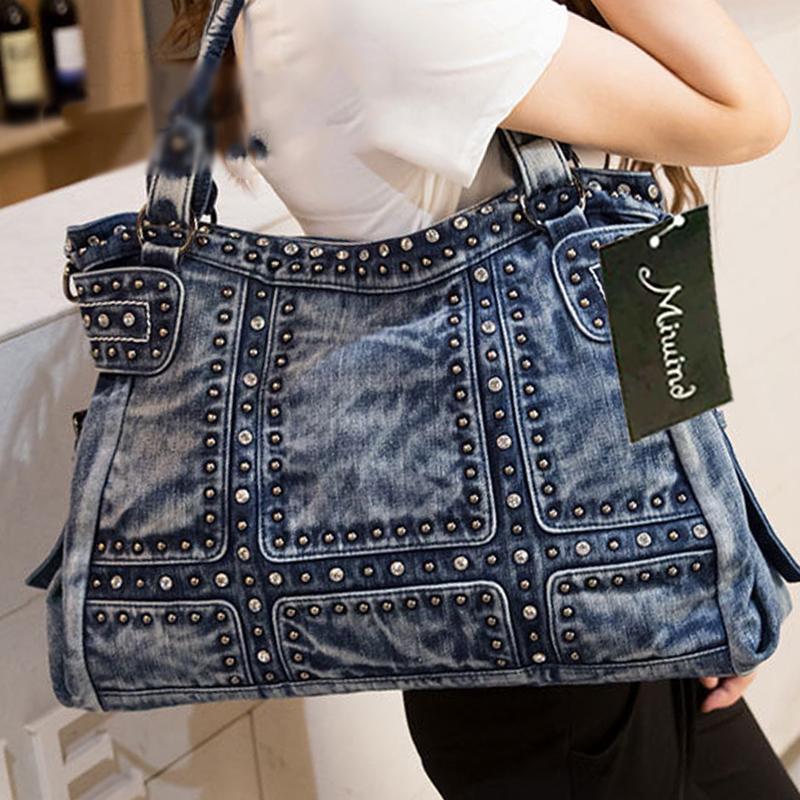 2020 Sac Denim Femme Vintage Design Mode Jeans Sacs d'épaule filles Sacs à main Sac bandoulière femmes Messenger Sacs