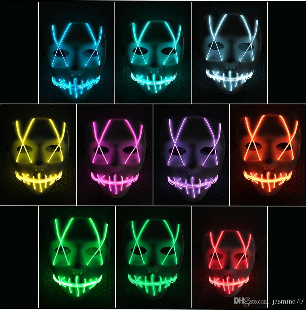2020 2019 Halloween Mask Led Light Up Party Masks The Purge