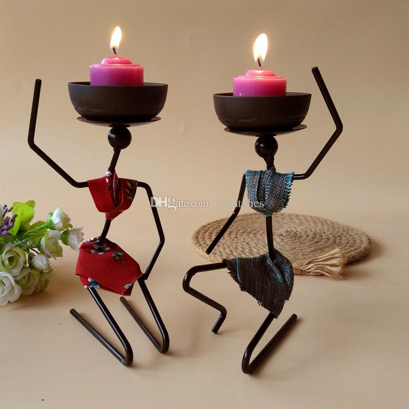 Metal Romantic Candle Holders Iron Candlestick Hand Made Fashion Home Decoration Weeding Birthday Party Ornament