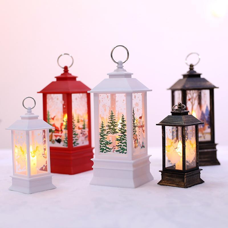 Alta calidad de Navidad llama simulación decoración de la lámpara de mesa lámpara de LED escena acuerdo portátil pequeña decoración de petróleo