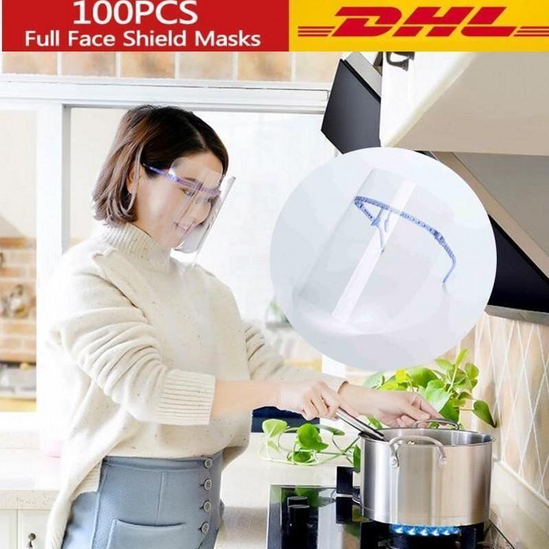 DHL輸送ホットクリア保護フェイスシールドマスクプラスチックフルフェイス保護アイソレーションマスク防止霧油保護マスクシールドハット