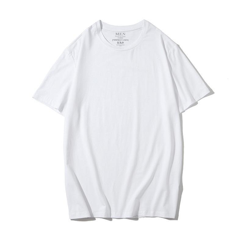 Neck Pure circular Cor T-shirt 2020 dos homens de moda tendência de manga curta Casal Bottoming shirt Áustria New Cotton