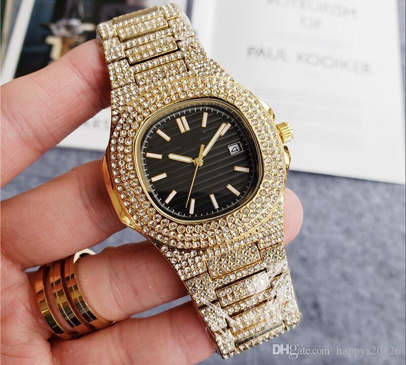 Hombre de alta calidad de lujo las mujeres del diamante del diseñador de pulsera Montre de luxe reloj de lujo
