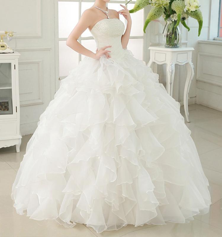 2020 Новый белый цвет слоновой кости свадебное платье свадебное платье на заказ размер бретелек Свадебные платья