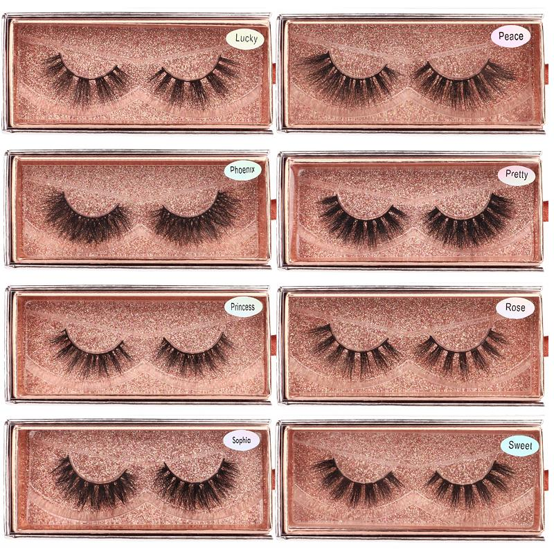 3D Mink Eyelashes Wholesale Natural False Eyelashes 3D Mink Lashes Soft make up Extension Makeup Fake Eye Lashes 3D Series