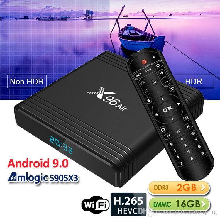 X96 Air Amlogic S905X3 Android 9.0 TV Box 2GB 16GB WIFI 2.4G Set Top Box VS X96 Mini TX3 Mini