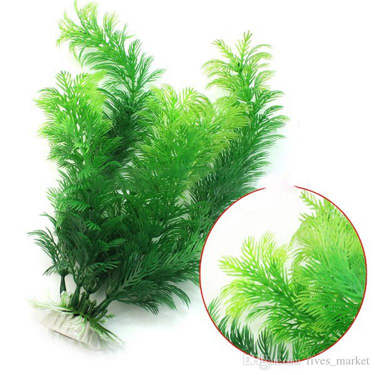 محاكاة الماء العشب الاصطناعي النباتات البلاستيك العشب حوض للأسماك المياه الديكور حلية ديكور حوض السمك للدبابات 30CM AN2880