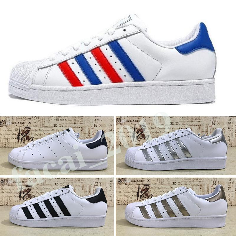 الشحن مجانا سوبر ستار ابيض اسود وردي الذهب الأزرق النجوم Adidas Superstar 80s S الكبرياء أحذية رياضية سوبر ستار النساء الرجال الرياضية الاحذية الاتحاد الأوروبي SZ36-45 K8
